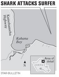 Oahu Shark Attack Location - Ka'awa / Kahana Bay