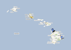 Hawaiian Island Shark Activity Map