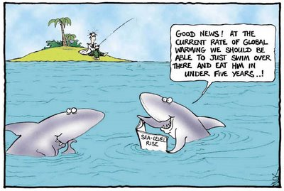 Warming cartoon 300x201 shark attacks global warming and climate