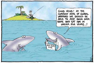 Warming cartoon 300x201 shark attacks global warming and climate